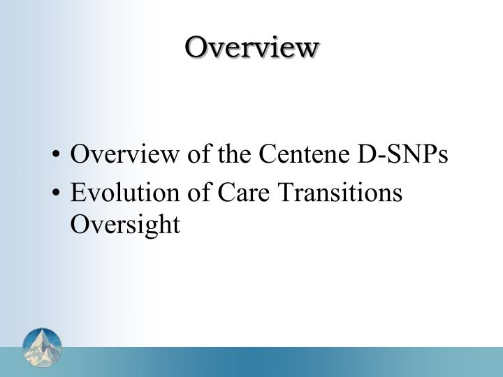 Overview of the Centene D-SNPs