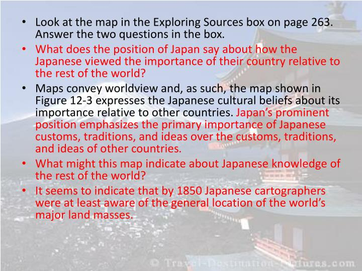 Look at the map in the Exploring Sources box on page 263. Answer the two questions in the box