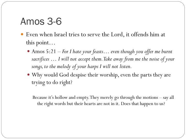 Amos 3-6