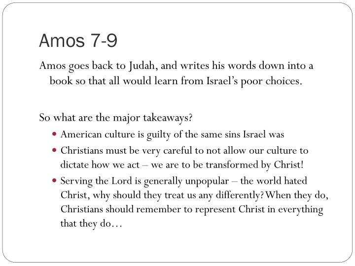 Amos 7-9