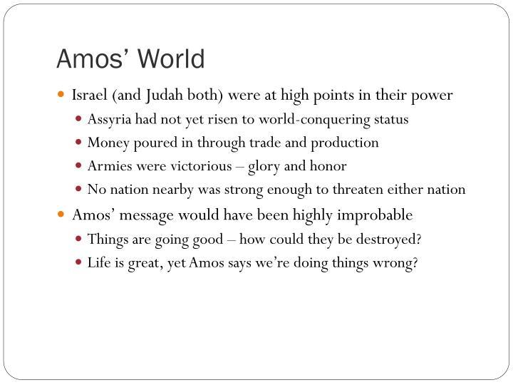 Amos' World
