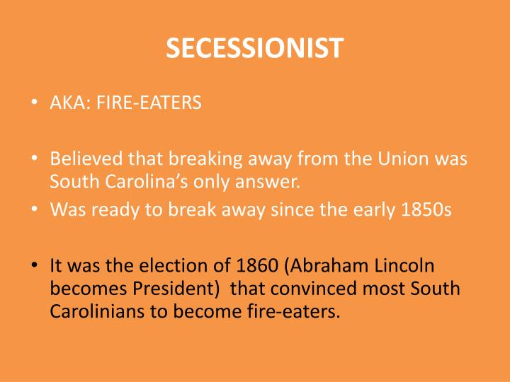 Ppt South Carolina Attitudes Of Secession Powerpoint