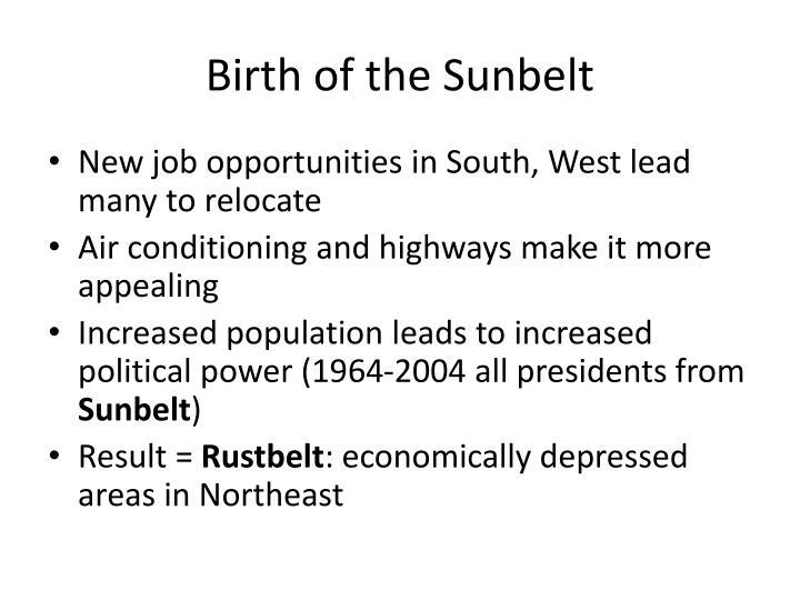 Birth of the Sunbelt