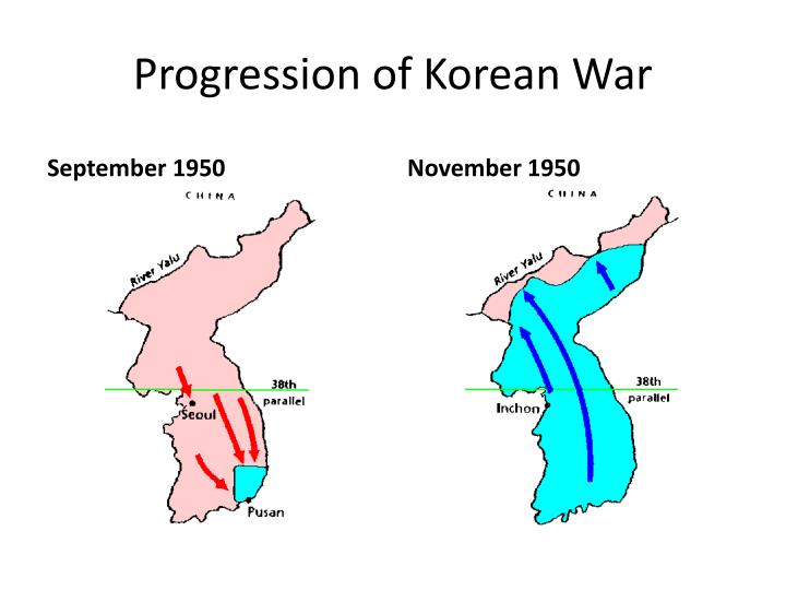 Progression of Korean War