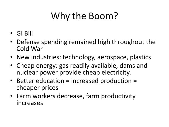 Why the Boom?