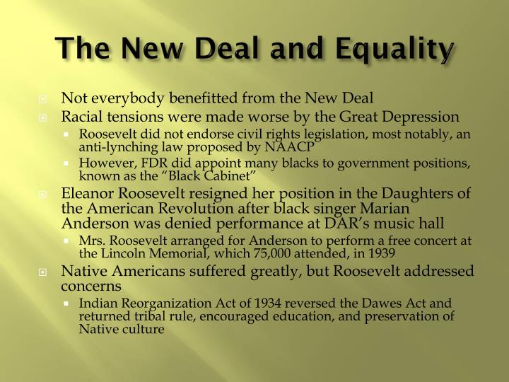 The New Deal and Equality
