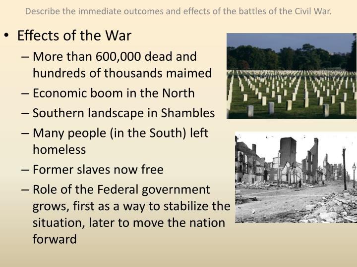 the effects of slavery on the civil war In his book the american civil war, john keegan writes that the american civil war was to prove one of the most ferocious wars ever fought without geographic objectives, the only target for each side was the enemy's soldier.