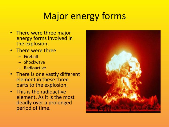 Major energy forms