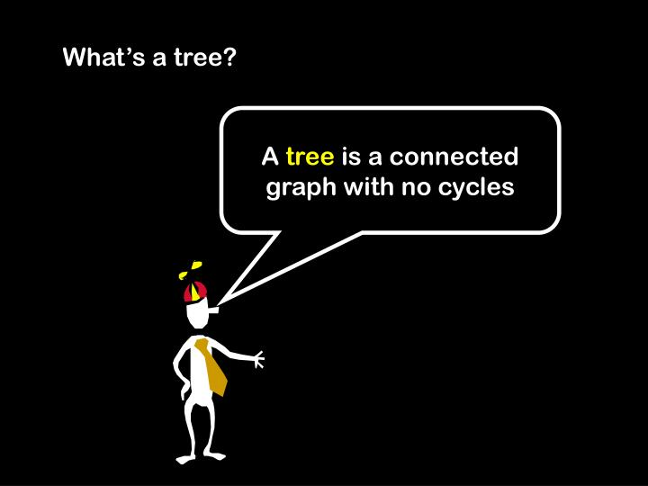 What's a tree?