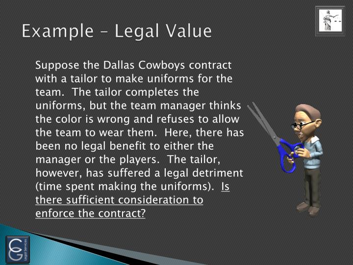 Example – Legal Value