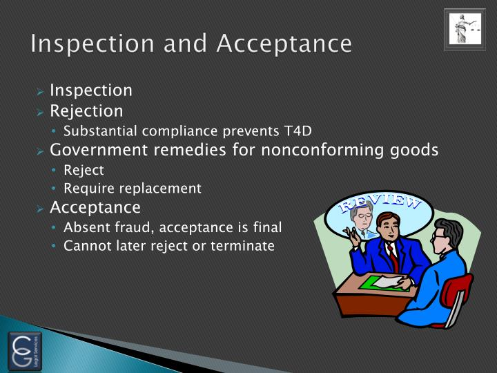 Inspection and Acceptance