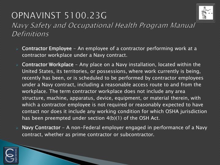 OPNAVINST 5100.23G