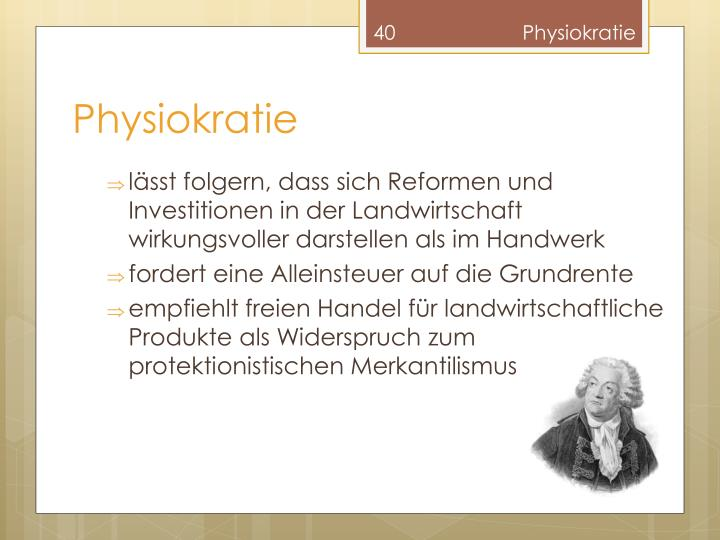 Physiokratie
