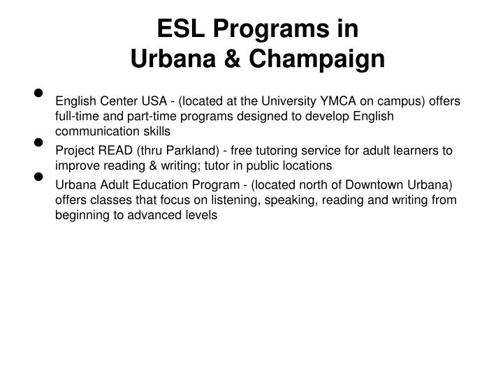 ESL Programs in