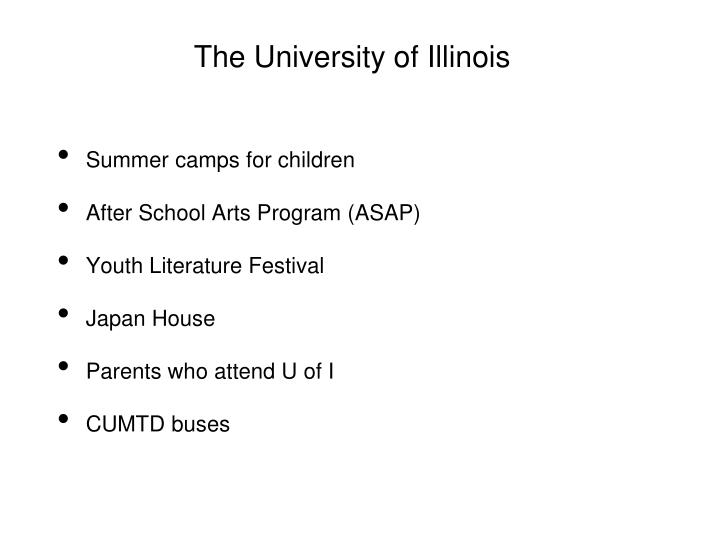 The University of Illinois
