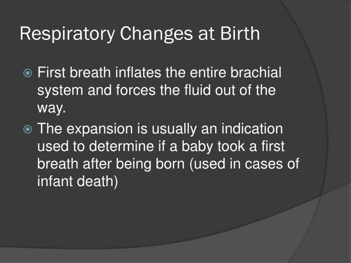Respiratory Changes at Birth