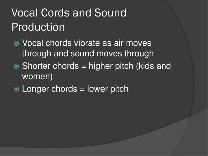 Vocal Cords and Sound Production