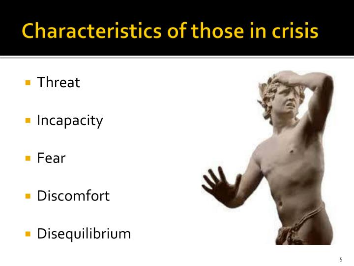 Characteristics of those in crisis