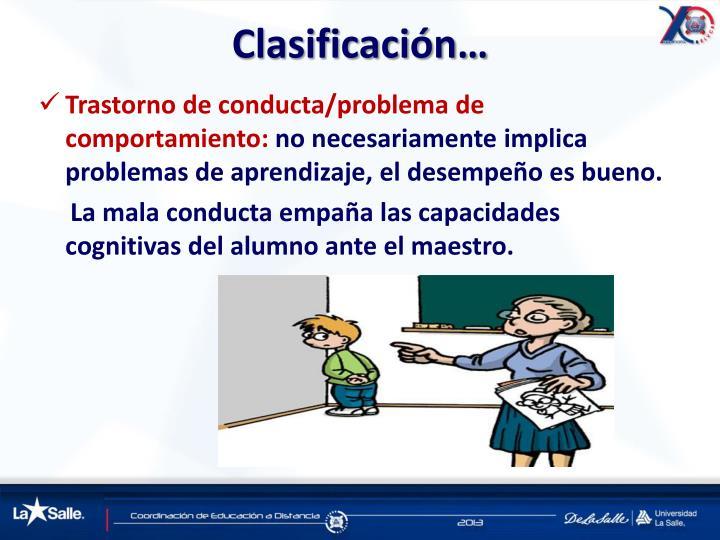 Clasificación…
