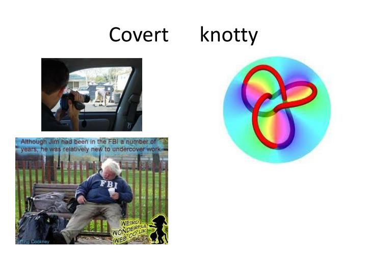 Covert      knotty