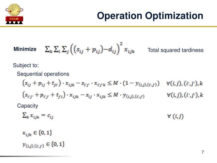 Operation Optimization