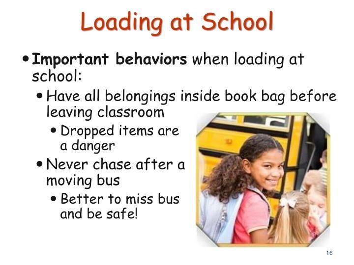 Loading at School
