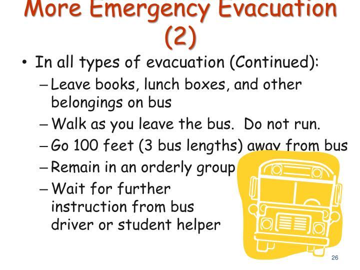 More Emergency Evacuation (2)