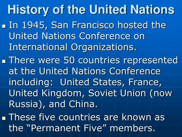 History of the United Nations