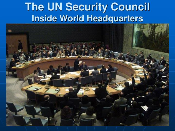 The UN Security Council