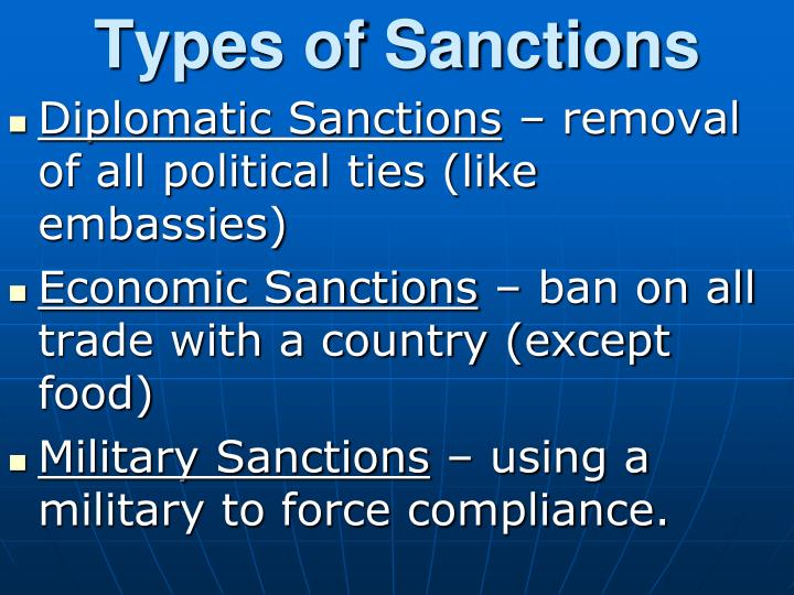 Types of Sanctions