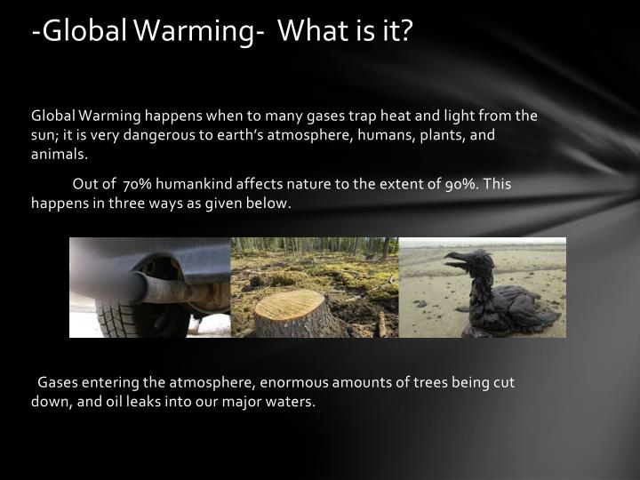 -Global Warming-  What is it?