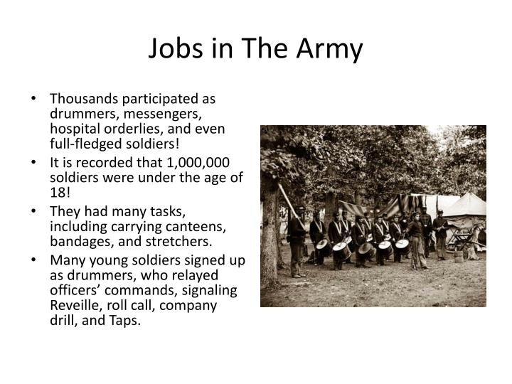 Jobs in The Army