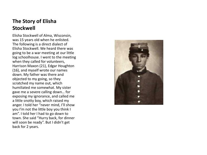 The Story of Elisha Stockwell