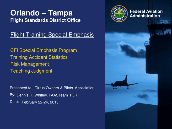 Orlando tampa flight standards district office