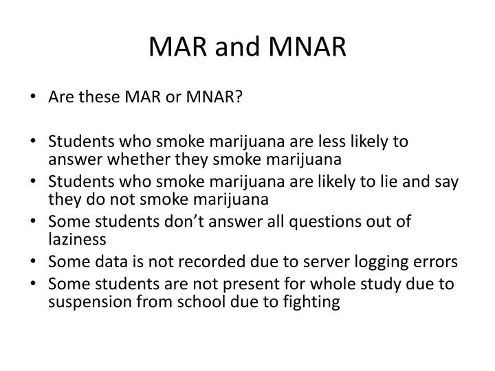 MAR and MNAR
