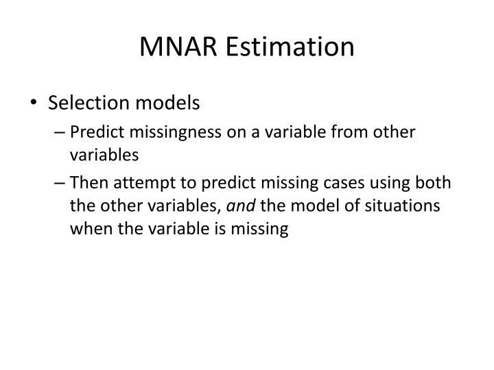 MNAR Estimation