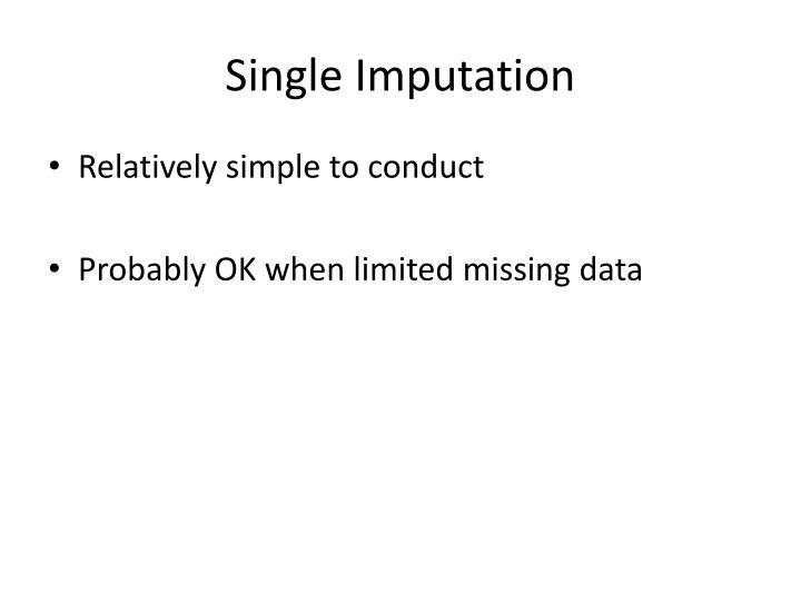 Single Imputation