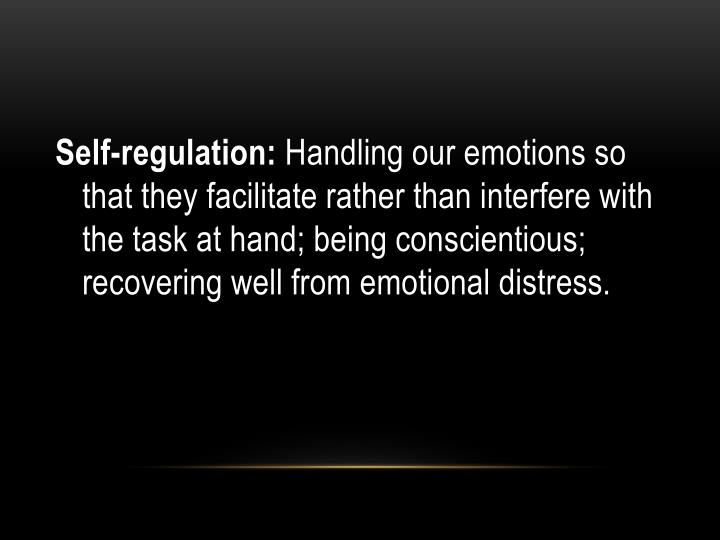 Self-regulation: