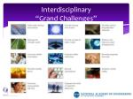 interdisciplinary grand challenges