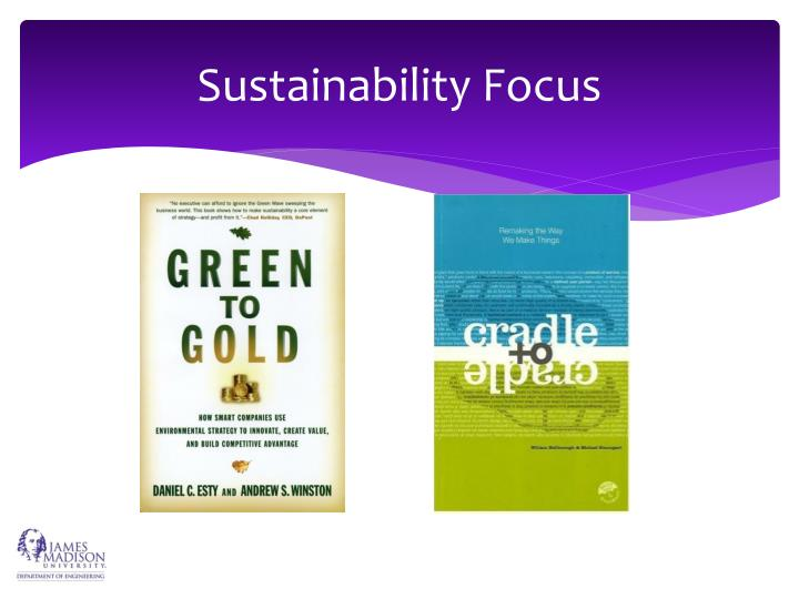 Sustainability Focus