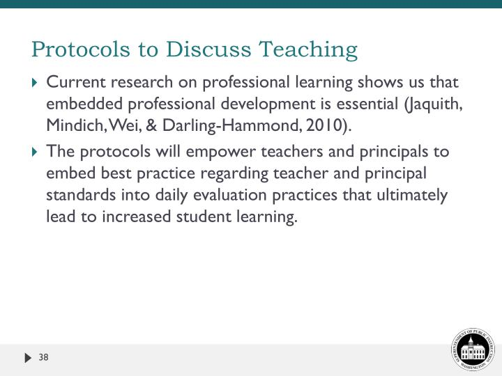 Protocols to Discuss Teaching