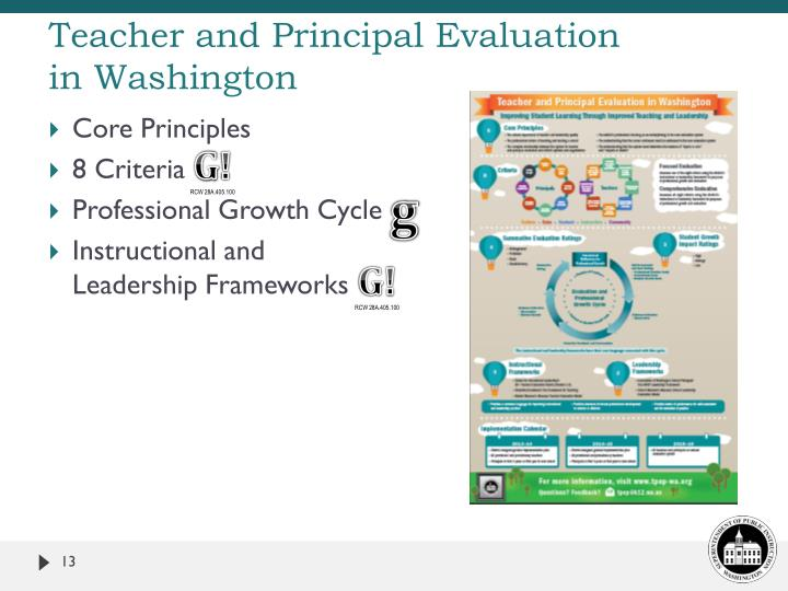 Teacher and Principal Evaluation