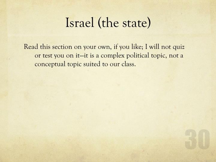 Israel (the state)