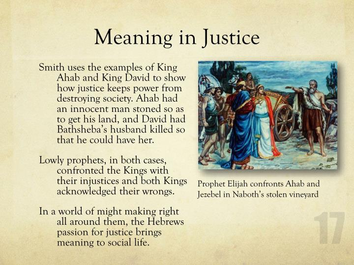 Meaning in Justice