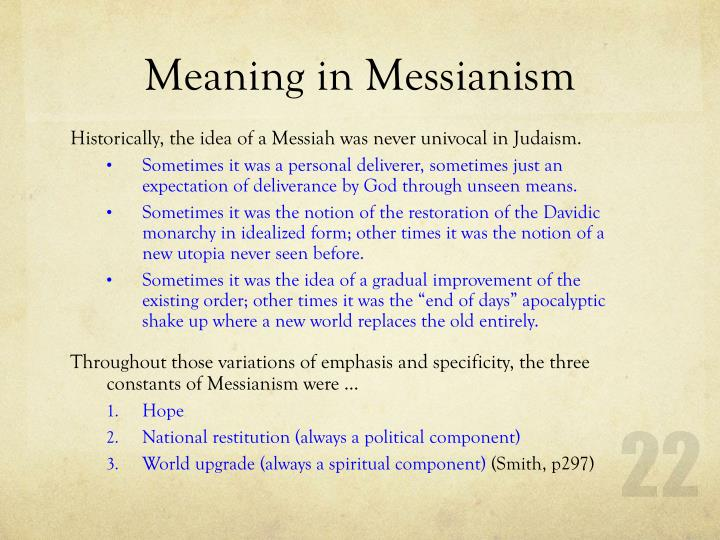 Meaning in Messianism