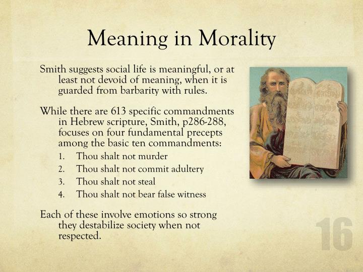 Meaning in Morality