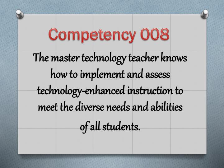 Competency 008