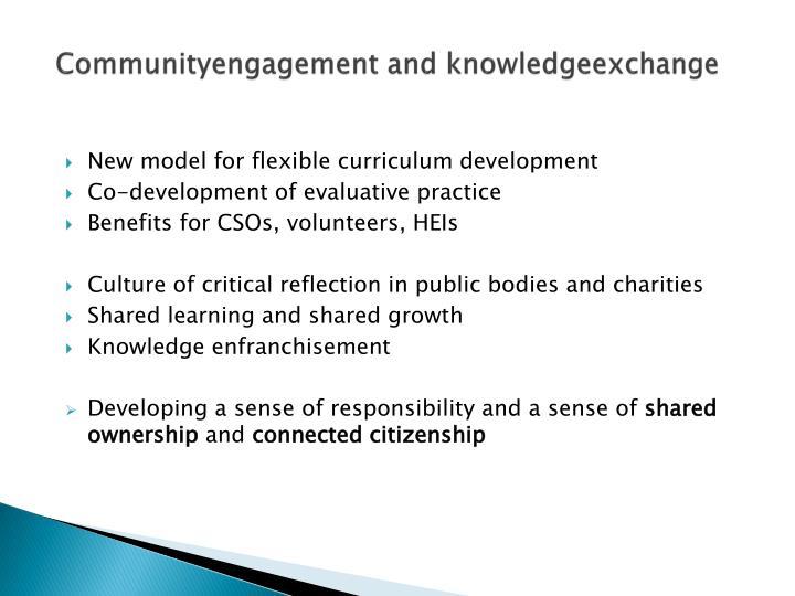 Communityengagement and knowledgeexchange