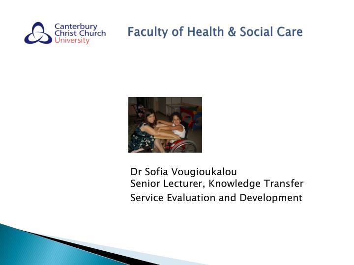 Faculty of Health & Social Care