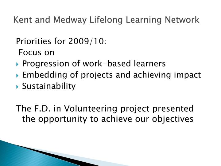 Kent and Medway Lifelong Learning Network